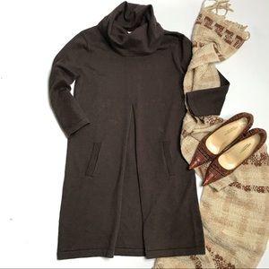 Tyler Boe Kim Cotton Cashmere Shift Dress Brown